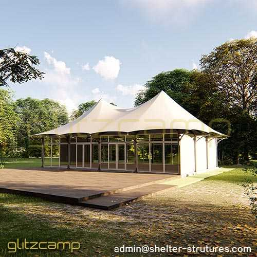 Large Banquet Tent Lodge with Glass Sidewalls