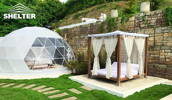 2020.6 Colombia 6m glamping dwell dome in the yard for sale