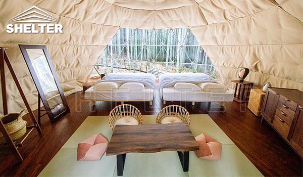 japan bamboo forest 6m dome houses dome hotel for sale
